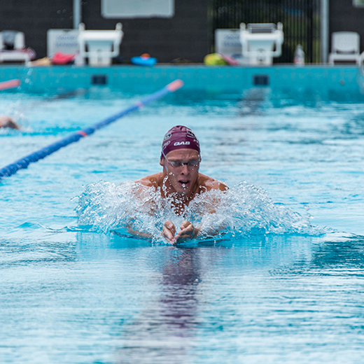 USC Spartan and Olympic silver medallist Jake Packard training at the USC Pool.