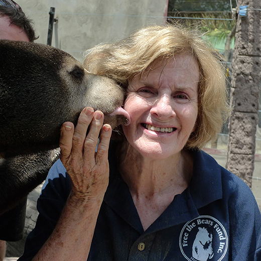 Mary Hutton, the founder and chief executive of the world's leading bear rescue and protection organisation, Free the Bears Fund.