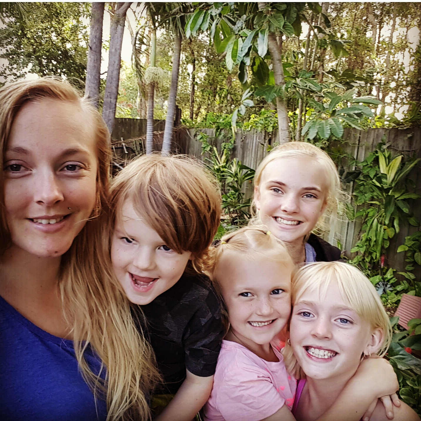 Jesse Lanigan (with her four children) will become the first Indigenous student to complete TPP via STEMM.