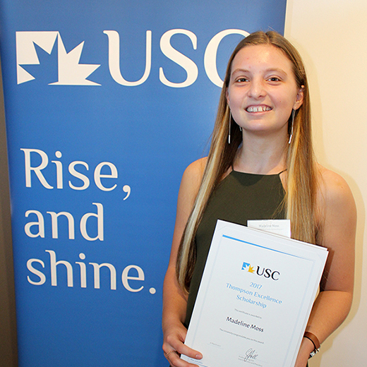 OP1 student and volunteer surf lifesaver Madeline Moss has received a $32,000 financial boost.