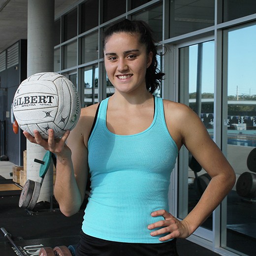 USC student Annabella Sorby, who has scored a place in the Australian Under 19 netball squad.