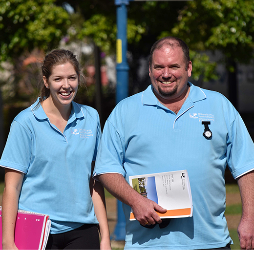 USC  Nursing Science students Catherine Sugget and Corey Johanson of Hervey Bay