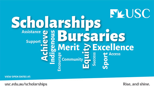 Scholarships and Bursaries image of words