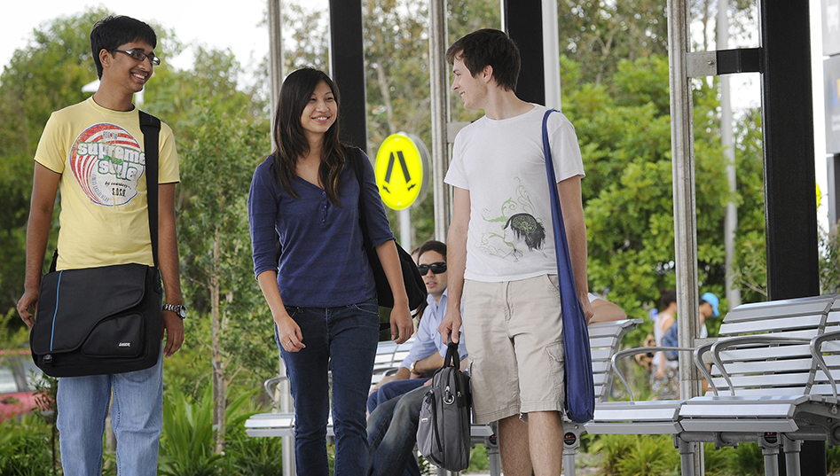 Students at transit centre