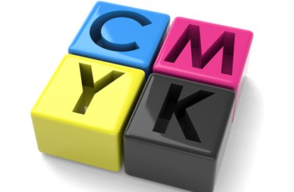 CMYK color blocks