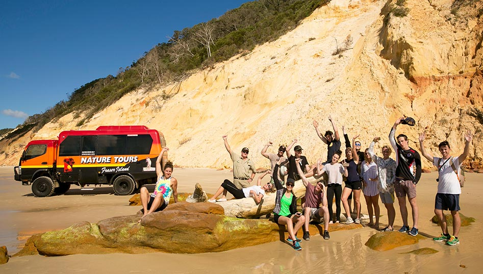 Outdoor education students on field trip to Fraser Island