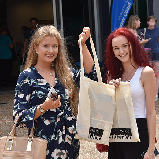 USC Fraser Coast students Chloe Baker and Emily Allwood