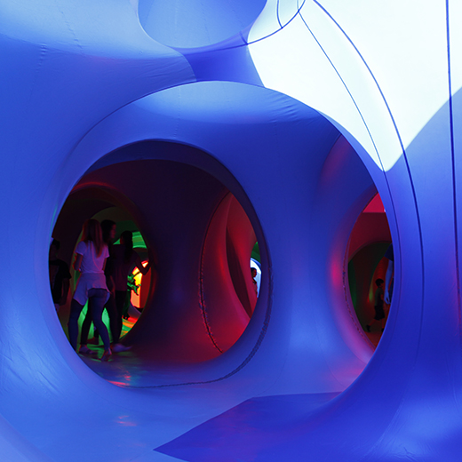 Aboria Luminarium on campus
