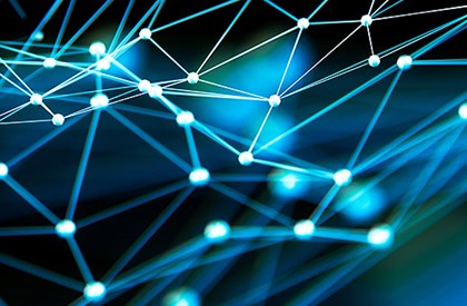 Network concept connected dots