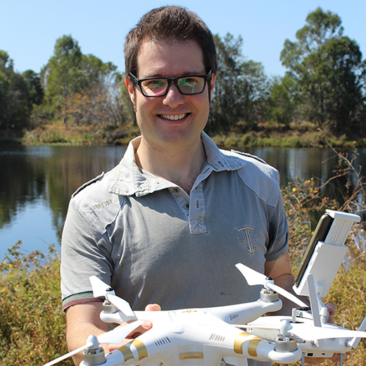 USC student Davide Di Mauro, 33, who will step straight into the research laboratories of the CSIRO when he finishes his Environmental Science studies next month.