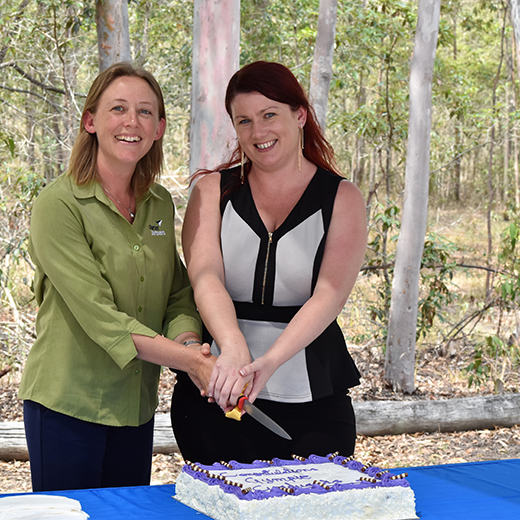 USC Gympie graduates Leanne North and Jodie Tydings