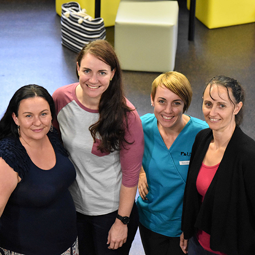 Nursing Science students from USC's Gympie campus Antonija Monckton, Laura Keldoulis, Emma Kendall and Amanda Keldoulis.