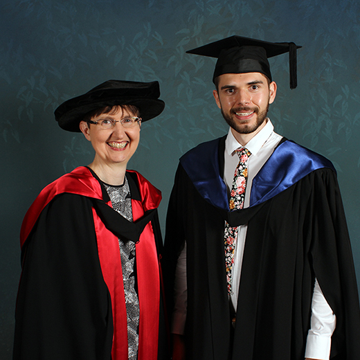 USC Professor Joanne Scott and graduate Lucas Whittaker
