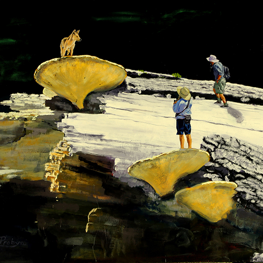 David Probyn's acrylic on canvas 'Scott of Fraser Island'.