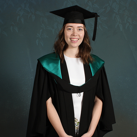 USC medallist Siobhán Attwood at her recent USC graduation ceremony