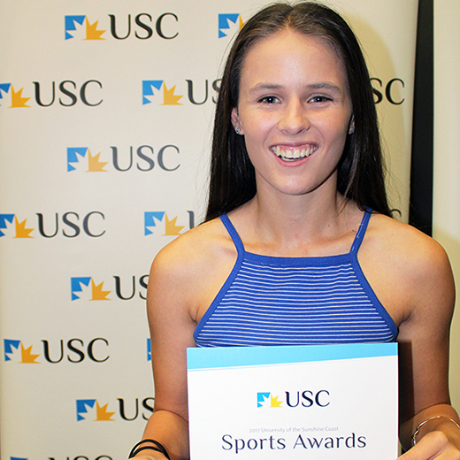 USC student Rebecca Goulding at the annual USC Sports Awards