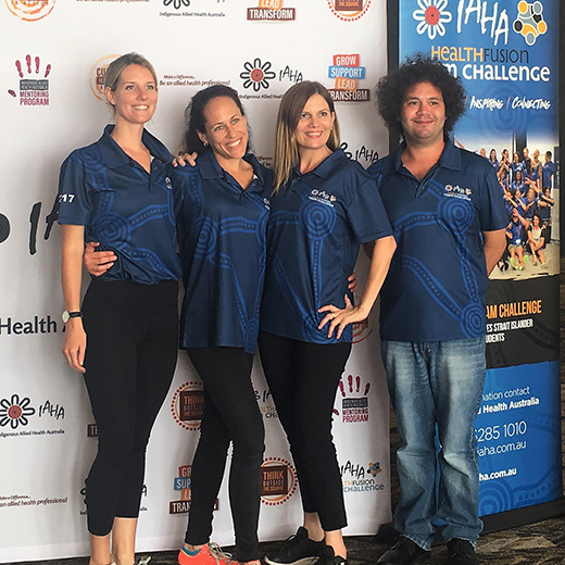 USC students Jenna Perry, Emma Williams, Tracy Hardy and Daniel Chilly at the IAHA Health Fusion Team Challenge