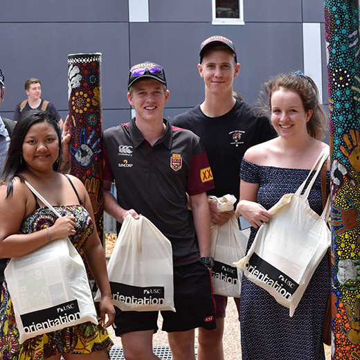 Students at USC's 2017 Fraser Coast Orientation Day