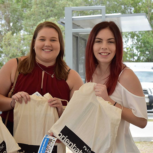 Students at USC Gympie's 2017 Orientation