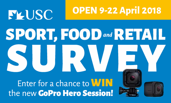 Sport, food and retail survey: Enter for a chance to win the new GoPro Hero session! Open 9-22 April 2018