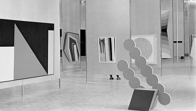 The Field installation view, National Gallery of Victoria, 1968