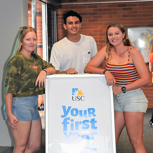 First-year students join in Semester 1 Orientation at USC Fraser Coast