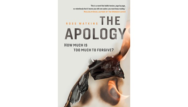 Ross Watkins; The Apology; 2018; cover; Courtesy of UQP