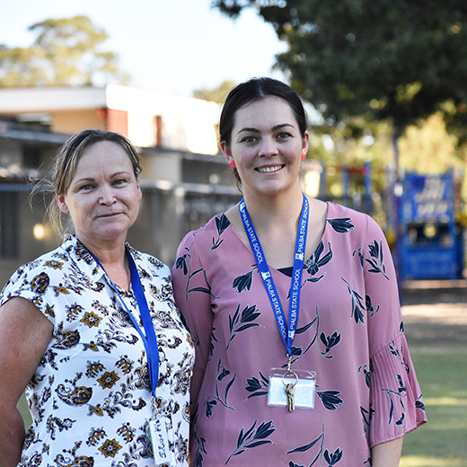 USC Fraser Coast Education graduates Julie Anne Curtis and Rachel Sewell