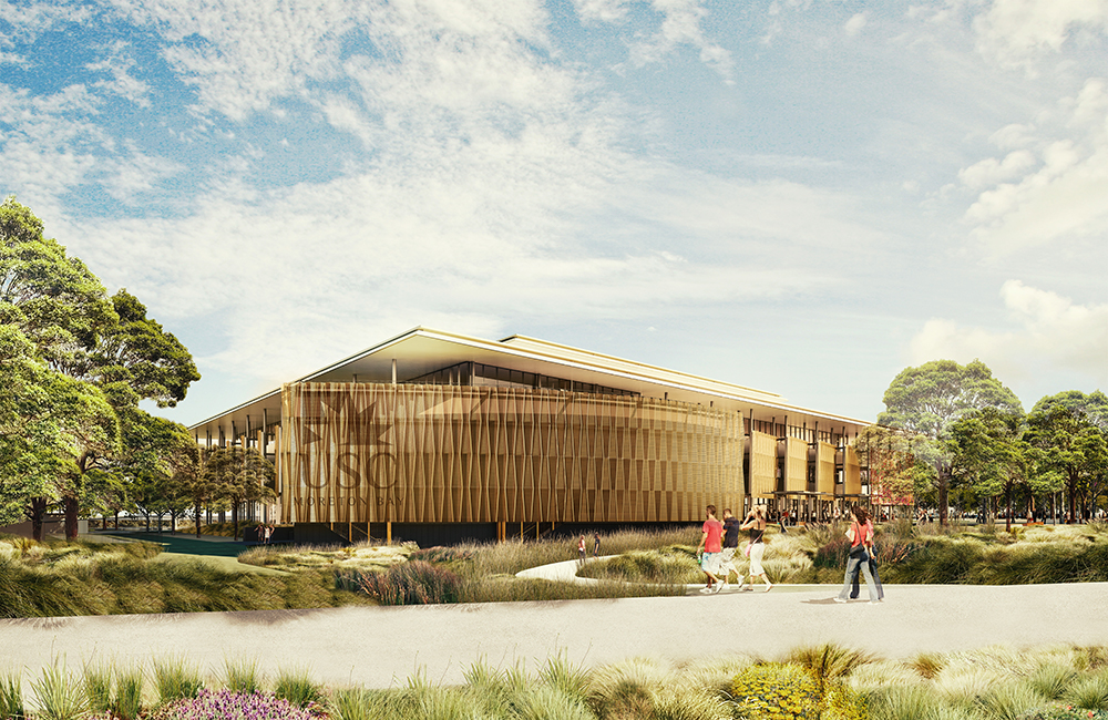 Artwork of what USC Moreton Bay campus will look like