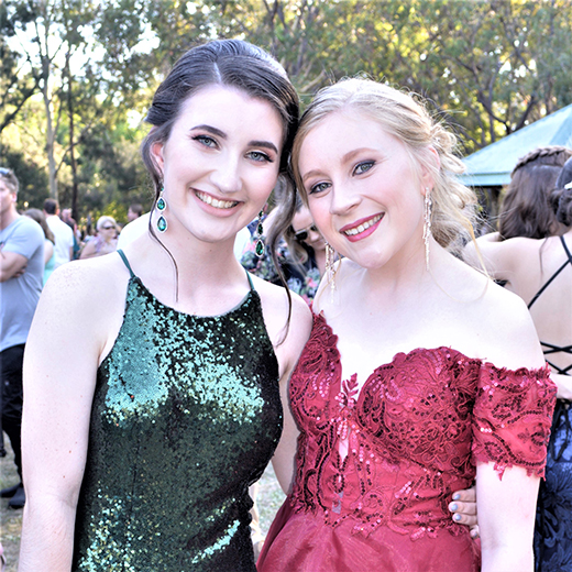 Bundaberg friends Renee Nielsen and Hollie Cooper will study Criminology and Justice together at USC.