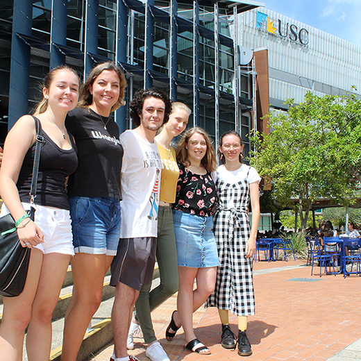 Burnside State High School graduates Tamika Francis, Eden Danielsen-Jensen, Kane Howlett, Grace Knight, Chloe Domjahn and Grace Smith have all received scholarships from USC