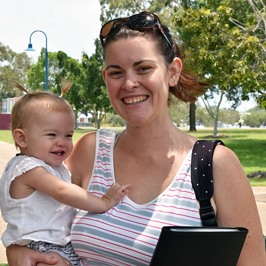 New USC Fraser Coast Social Work student Amy Purcell