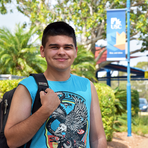 Hervey Bay High School OP3 graduate Alex Sorrensen has enrolled in the Science degree at USC's Fraser Coast campus.