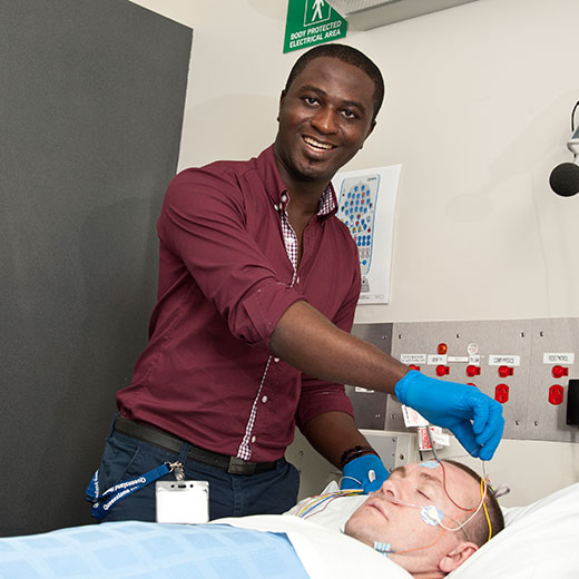 USC Biomedical Science graduate Olawale Idowu at the Sleep Disorders Clinic