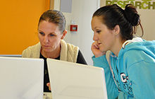 Teresa Brough and her daughter Samantha study TPP together at USC Gympie
