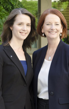 Dr Laura Bray with Prime Minister Julia Guillard