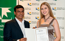 Professor Sajid Anwar and Chelsea Wallis
