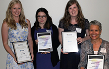 Claire Maike, Caroline Baker, Nicola Esplin and Lorraine Josey gained industry awards for their achievements as USC Occupational Therapy students