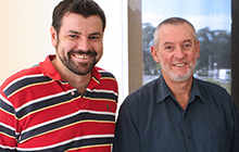 Microbiology researchers Dr Adam Polkinghorne and Professor Peter Timms