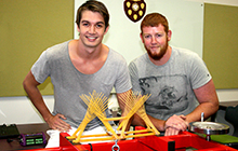 Civil Engineering students compete in USC's annual spaghetti bridge challenge