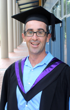 USC Honours graduand Daniel Meloncelli preparing for his ceremony on Friday