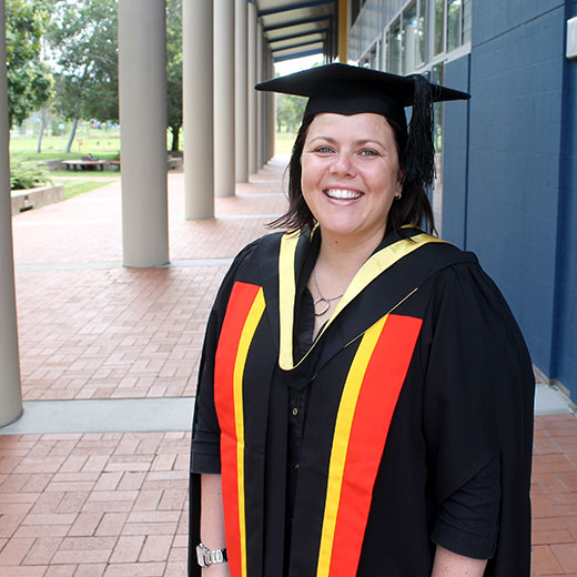 USC Master of Education graduand Marnee Shay preparing for her ceremony on Friday