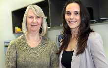 USC Field Education Coordinator for Human Services and Counselling Christine Boulter (left) with Bachelor of Counselling student Naomi Madera