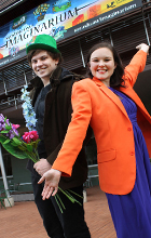 USC Drama students Brock Gregory and Gemma Elsom will perform at the Sunshine Coast Imaginarium on Sunday 10 August