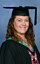 Lauren Borger in graduation garb. Photo supplied by Silve Rose Photography