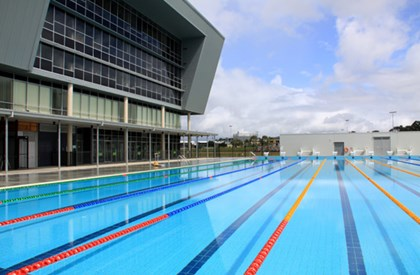 USC Sports Stadium and pool