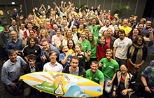 Group shot of Startup Weekend participants