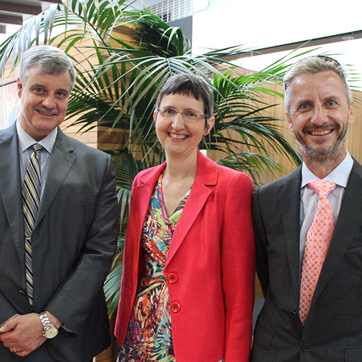 Professor Roland De Marco, Professor Joanne Scott and Associate Professor Thomas Schlacher