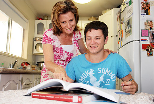 Headstart student with mum at home