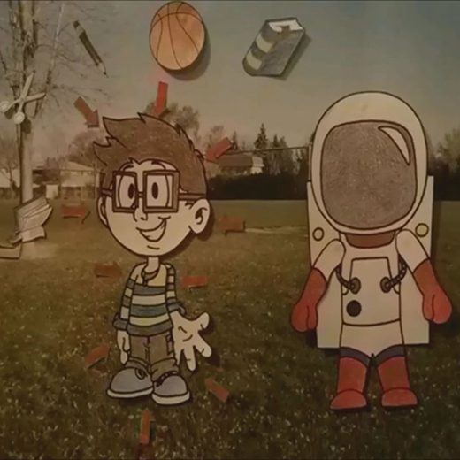 Image of astronaut and boy from Gravity film